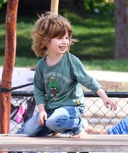 Exclusive... Jordan Bratman Takes Max To The Park